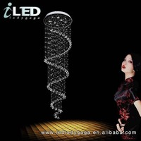 Dia. 400*H800mm High Quality Modern Stair Villas DNA twist crystal chandelier Hotel crystal chandelier with LED bulbs