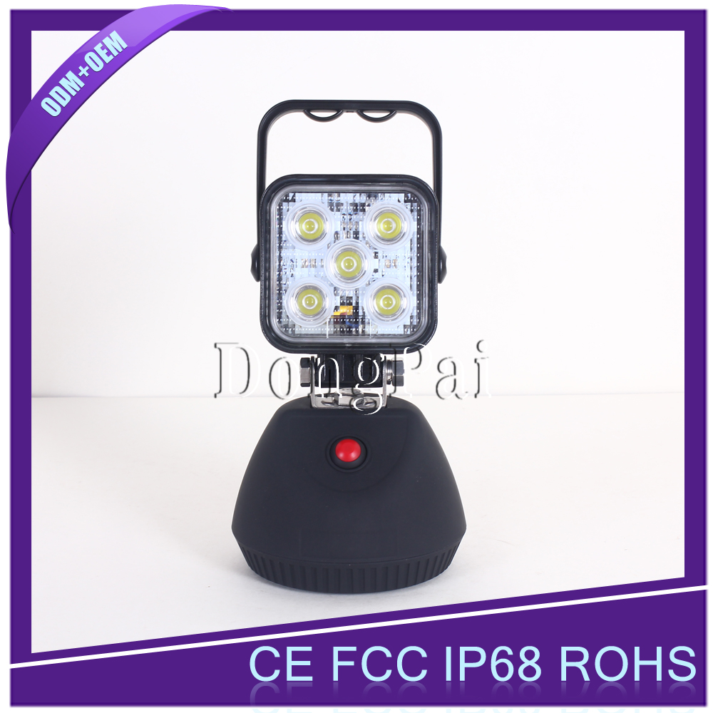 Off road car 15w truck led work light for 4x4 atvs suv jeep pickup magnetic base led work light