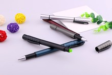 Stylish office supply low price plastic ball pen with highlighter for customer