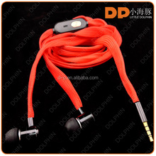 consumer electronics for samsung galaxy s6 earphone headphone with mic shoelace earphone