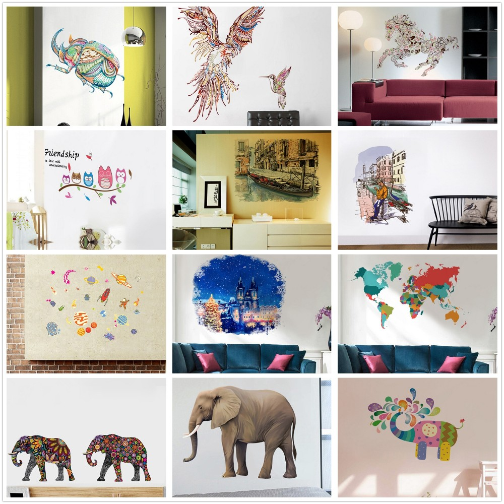 MT1070 Decorative Wall Stickers High Precision Digital Printing Different Styles Alphabet Letters