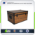 Wood Grain Black Frame Retro Aluminum Case Home Storage Box