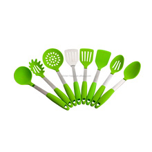Amazon Top Seller FDA Premium Silicone Stainless Steel Colorful Kitchen Utensils Set of 6 Piece/Silicone Cooking Untensils