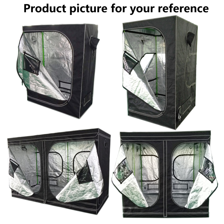Mylar grow tent 600D/1680D Grow box dark room gardening green house Led grow tent 240x120x200CM