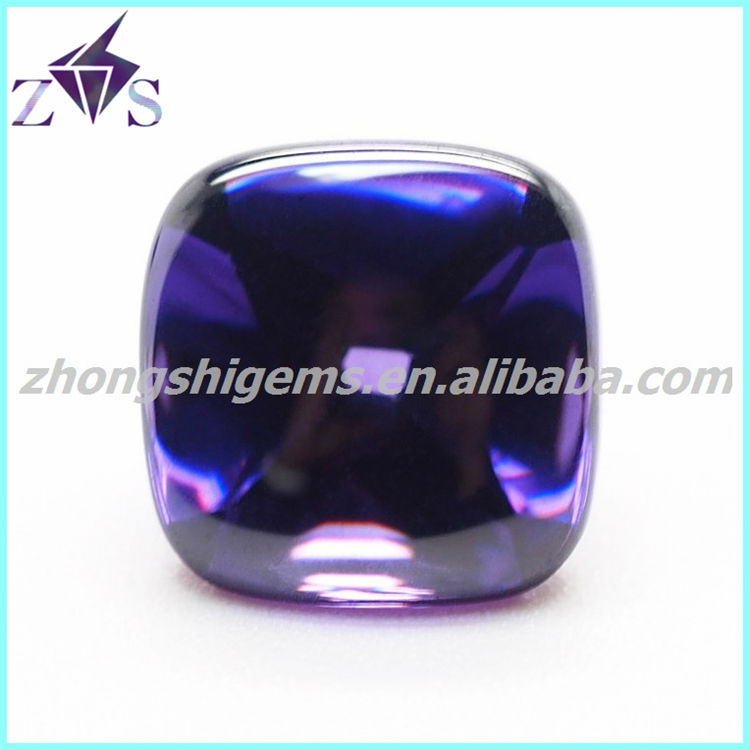 2014 hot sale fashion amethyst loose cubic zirconia stone for jewelry