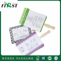 Recycled White Paper With Wooden Handen Advertising paper hand fan