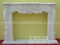 White Marble Fire Place
