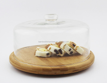 dual -use bamboo bread cover set and salad bowl