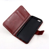 Wholesale PU leather mobile phone case for i6/6s