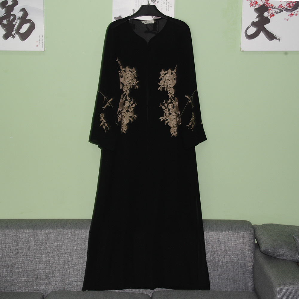 Hotsale elegant abaya elegant baju kurung islamic maxi dress simple muslim long dress winter abaya