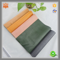 lizard embpssed PVC synthetic leather for bags woman