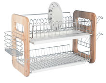 Two tiers commercial stainless steel dish racks hanging for hot sale
