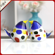 Popular Couple of Cute Colorful Penguin Glass Crafts and Articles for Sale