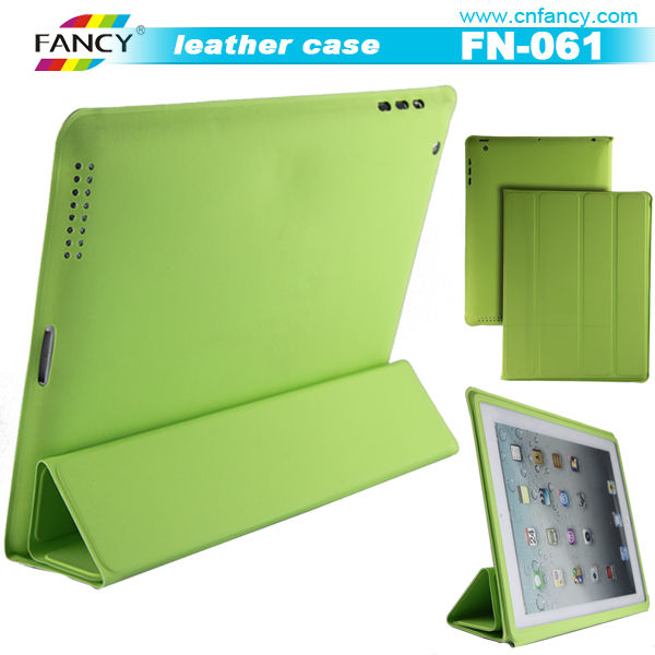 top-notch green tablet leather cases for iPad bag
