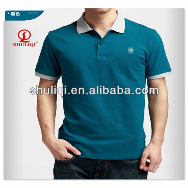 2015 latest custom short sleeve mens fancy embroidered polo shirt ribbing embroidered polo shirt