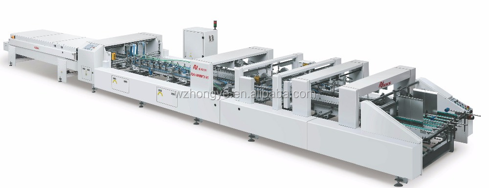 ZH-1400BFT-H Automatic Corrugated Bottom Lock Type Box Folding Gluing Machine with Correction Part