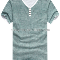 Wholesale Blank Popular Collar T Shirt
