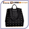 Fashion Unique Punk Rivet Canvas Women Bag Girl Handbag
