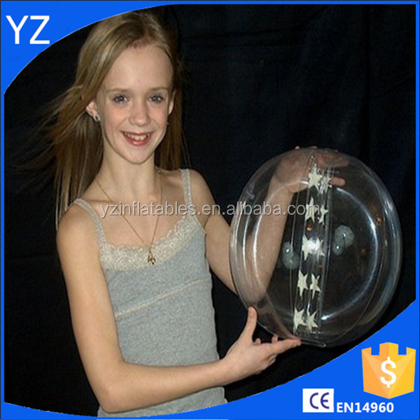 16inch Clear `Star Glow` Beach Ball - Glows In The Dark!