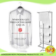 Clear Polythene Plastic Dry Cleaning Bag On Roll For Packing Clothes