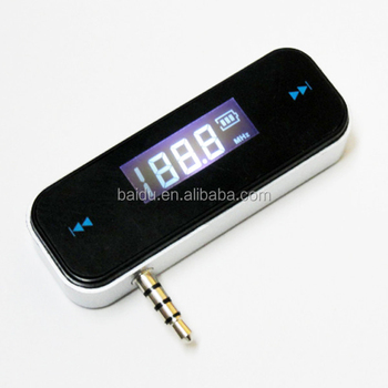 Hot sales 3.5mm car wireless FM transmitter for Iphone