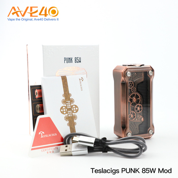 2017 Ave40 Exclusive 100% Original E Cig Dual Batteries Teslacigs Punk 220W Box Mod