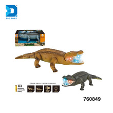 Battery Operated Animal Crocodile Toy Animatronic Dinosaur For Kids With Light