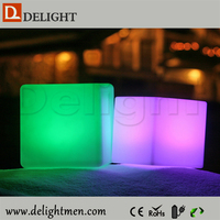 led cube table/ colorful light up cube chair/ led light bistro chair