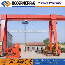 Open Area Used Crane European Double Welding Box Girder Gantry Crane for lifting granite