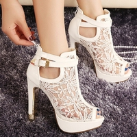 W91729A 2015 new fashion women peep-toe sandals shoes ladies high heel open toe sandals shoes