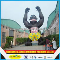 Customized inflatable chimpanzee cartoon for advertising