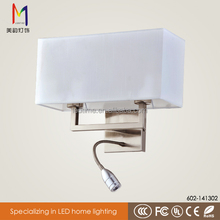 power outlet hotel wall lamp/wall sconce with power outlet