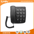 BLACK Cheapest Big Button Corded Home Desk Telephone