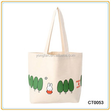 Print Leisure Canvas Shoulder Bag With Colorful Cartoon Low Canvas Women Bag Wholesale