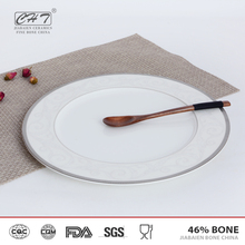 Customized print dinner ware wholesale modern restaurant plates with fancy style