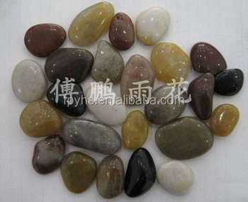 high polished mixed river stone