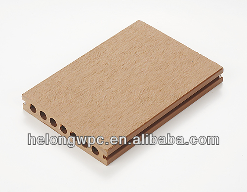 swirl thermowood bio recyclable 2013 hot sale WPC outdoor woodgrain decking HLH-007 140*24MM ISO,CE certificate SGS report