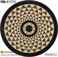 Rectangle Natural Marble Inlays Waterjet Medallion Manufacturer New Design