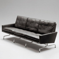 Poul Kjaerholm PK31 Sofa Set 3 Seater , Modern Style Genuine Leather Sofa Sets, Classic Extra Long Leather Sofa 2015