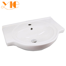 Latest style home furniture white ceramic western bathroom vanities with low price