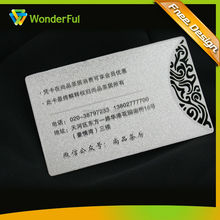 Supermarket Promotion Activity Use High Quality Embossed Custom Design Membership Card Metal OEM VIP Card