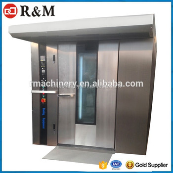 Rotary Oven Roll In Chamber,Toast Gas Electric Baking 64Tray Rotary Oven
