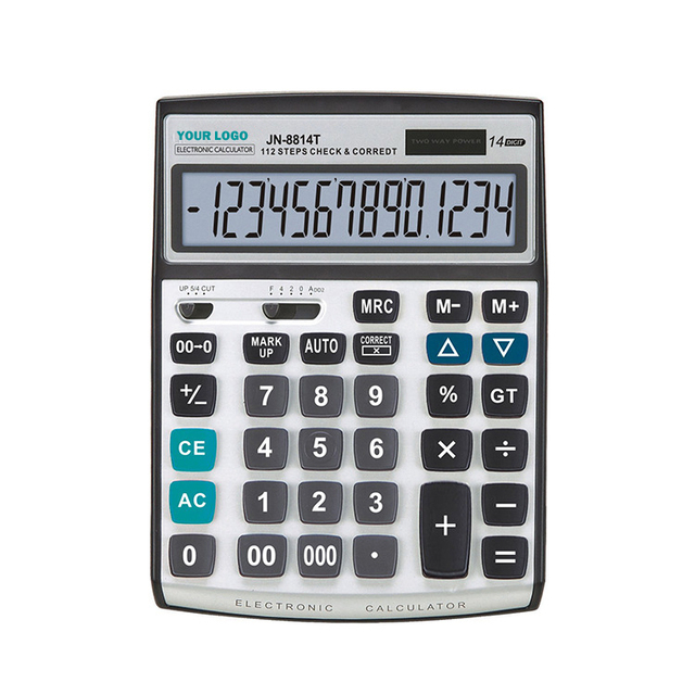 112 steps check & correct business 14 digit professional calculator/percentage full function two way power calculator