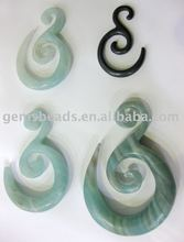 wholesale natural gemstone earring spirals and hangers jewelry