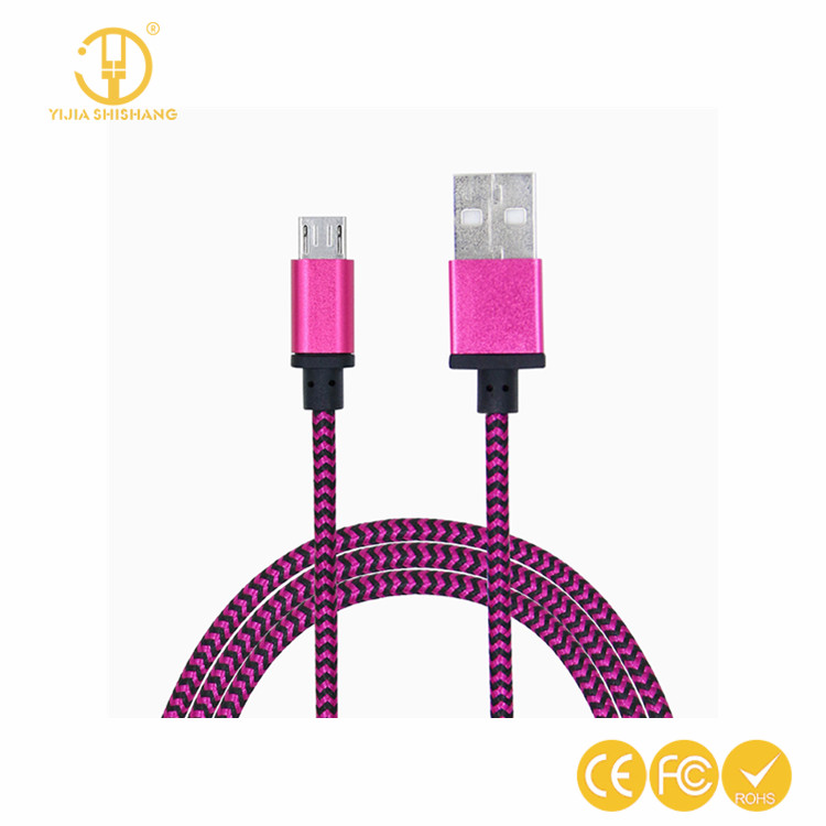 Promotional gift Braided USb Cable usb data wire Charging Cable