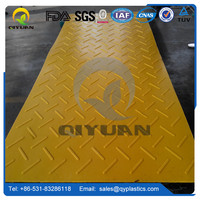 Non-slip mat for large vehicles temporary ground plastic protection mat/ UHMW-PE plate truck floor mats