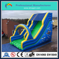 big inflatable sea theme slide for kids and adults