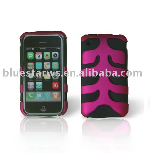 fish style silicone skin case assemble crystal case for iphone 3G