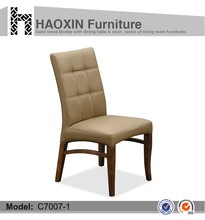 Leather french style dining chair,Wholesale high back leather banquet used hotel dining chairs