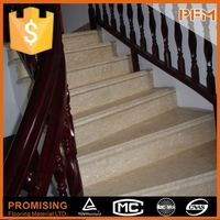 Super luxury villa decoration natural marble deck stair handrail